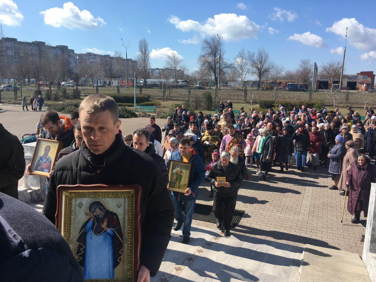 17 марта 2019 года, прошли крестные хода в Южненском благочинии