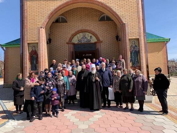 18 апреля 2019 года,Высокопреосвященнейший Агафангел, митрополит Одесский и Измаильский совершил архипастырский визит в Лиманский район Одесской области, во время которого посетил 8 храмов Южненского благочиния.